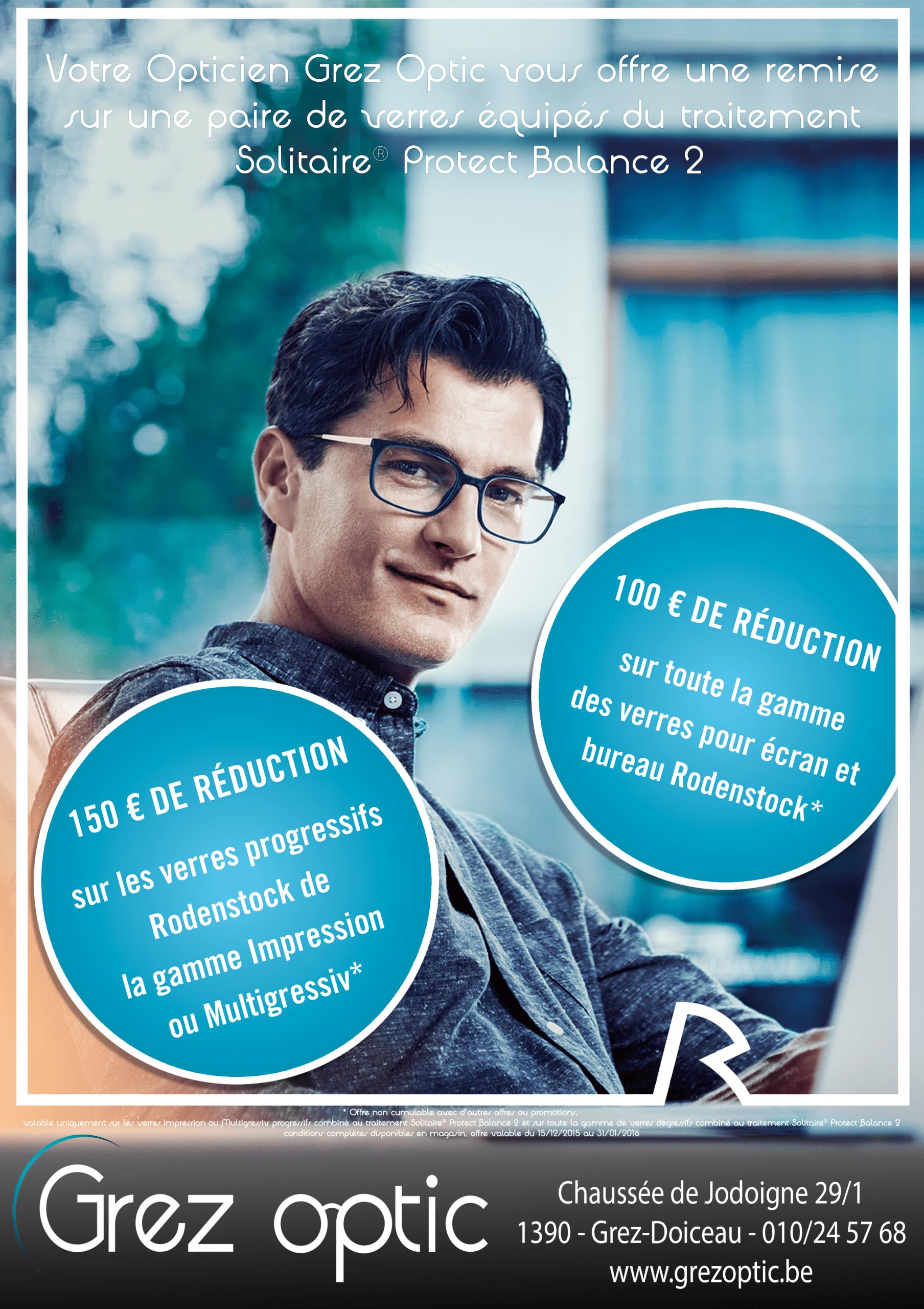 Jusqu'à 150€ de remise sur vos verres Rodenstock | Grez Optic
